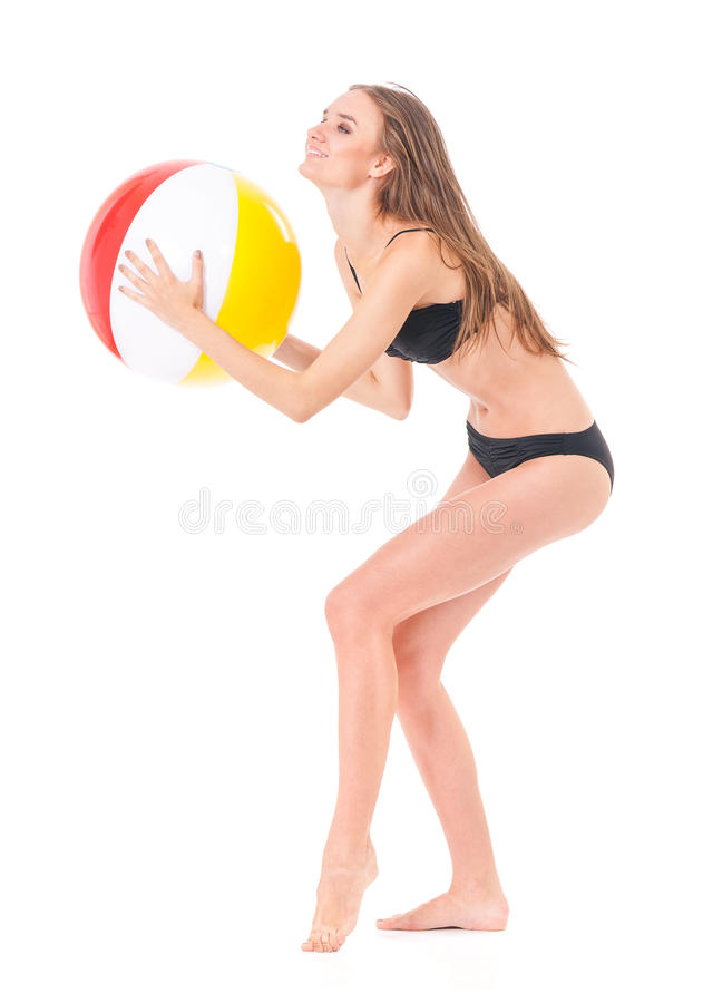Fille posant dans le bikini photo libre de droits