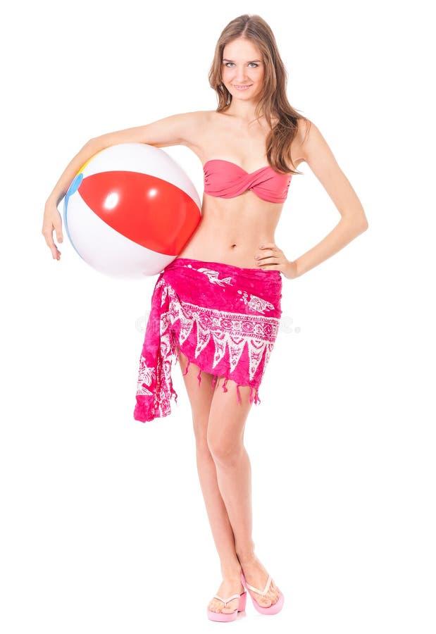 Fille posant dans le bikini photos libres de droits