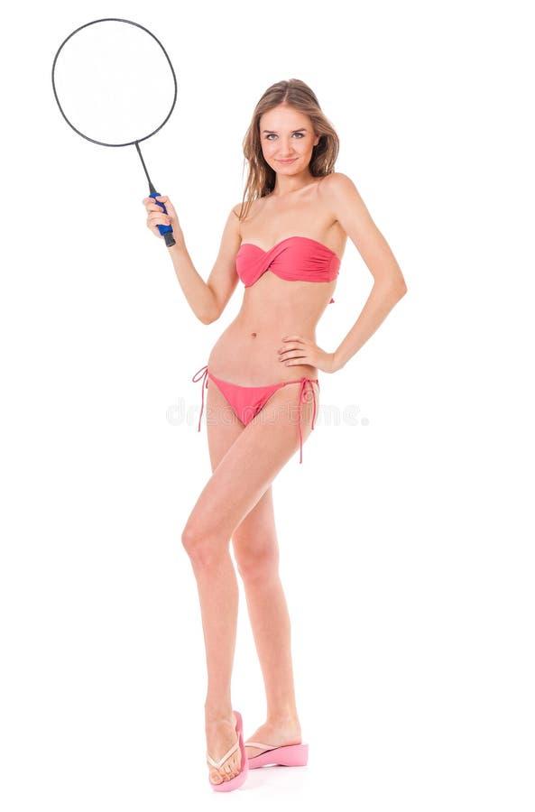 Fille posant dans le bikini images libres de droits