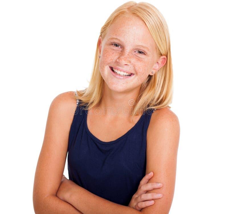 Fille pré de l'adolescence photos stock