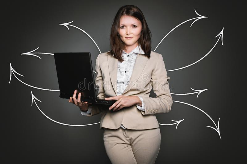Fille, professionnelle, papier peint d'ordinateur, comportement humain