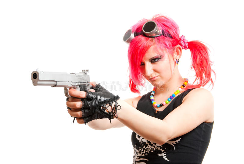 Fille punke photos libres de droits
