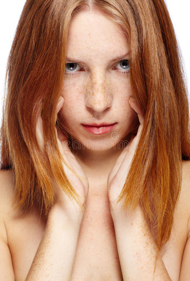 Fille Red-haired photographie stock libre de droits