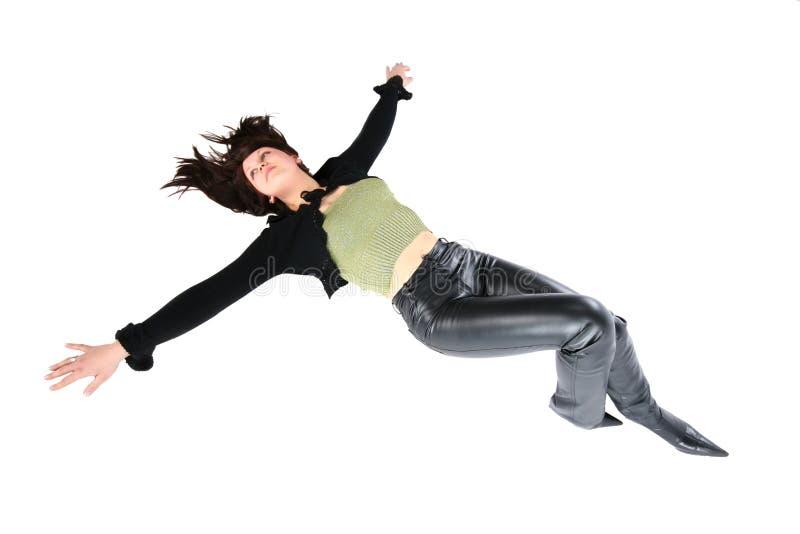 Fille s'étendant sur le plancher photos libres de droits