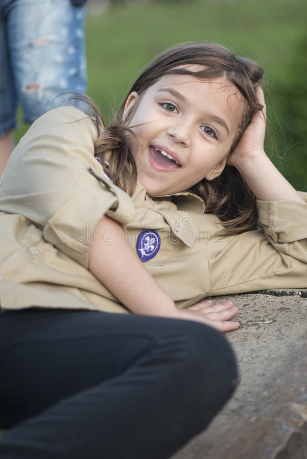 fille scout images libres de droits