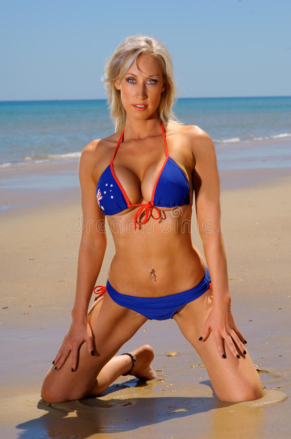 Fille sexy de bikini images stock