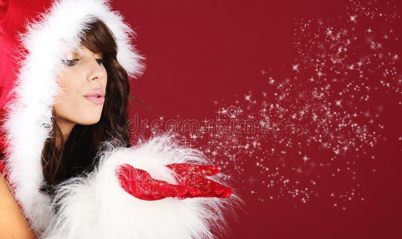 Fille sexy de Santa photo stock