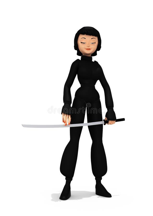 Fille sexy Ninja illustration stock