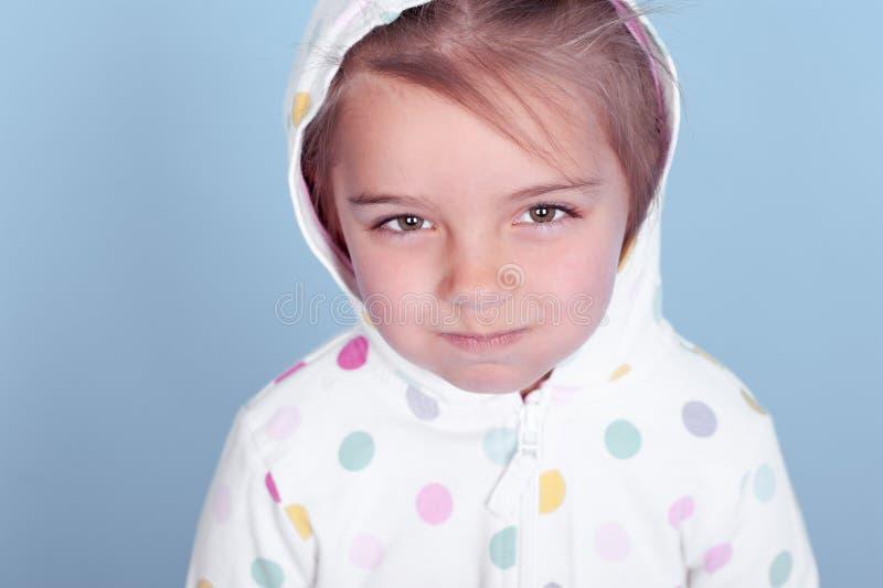Fille sombre d'enfant photo stock