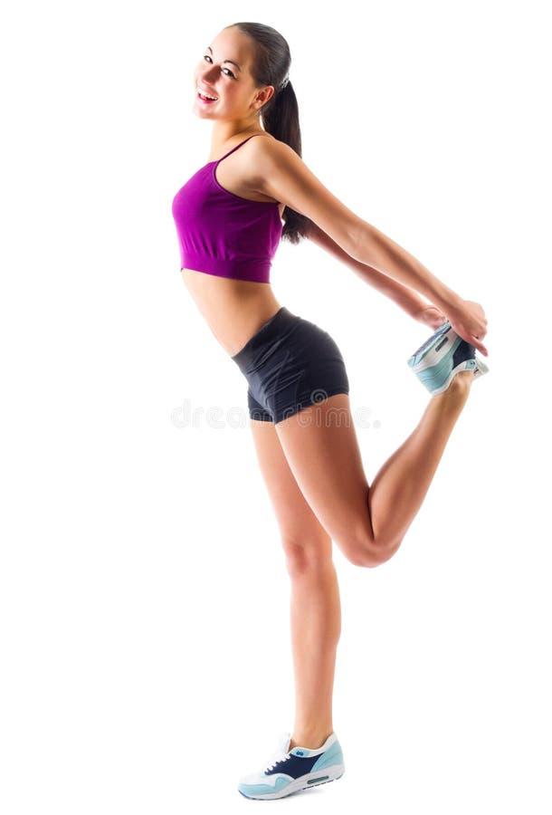 Fille sportive faisant des exercices gymnastiques photo libre de droits