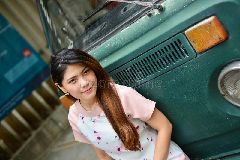 Fille thaïlandaise de portrait photos stock