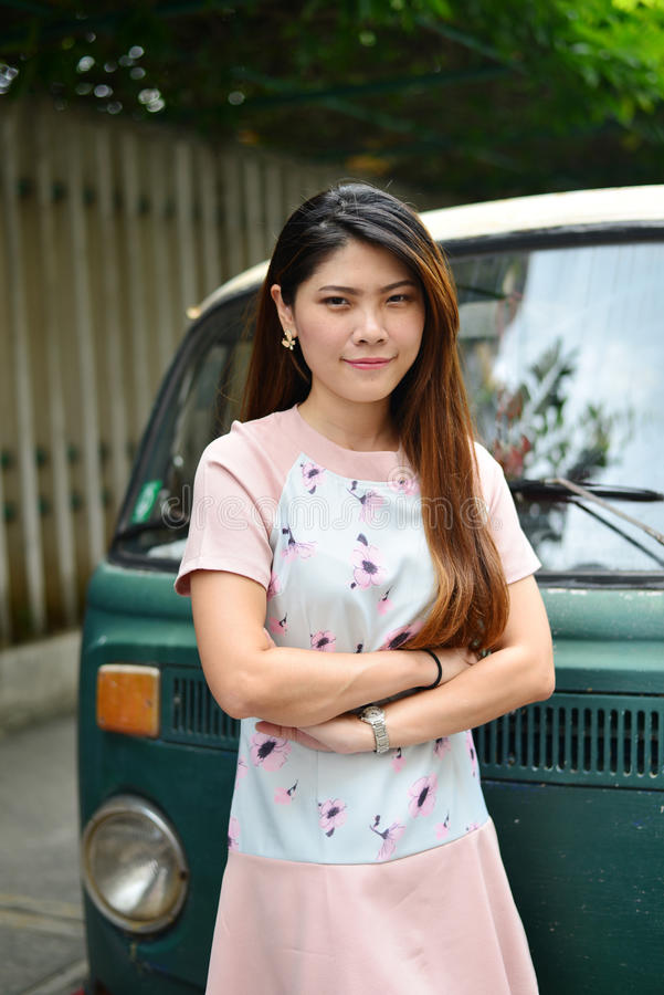 Fille thaïlandaise de portrait image stock