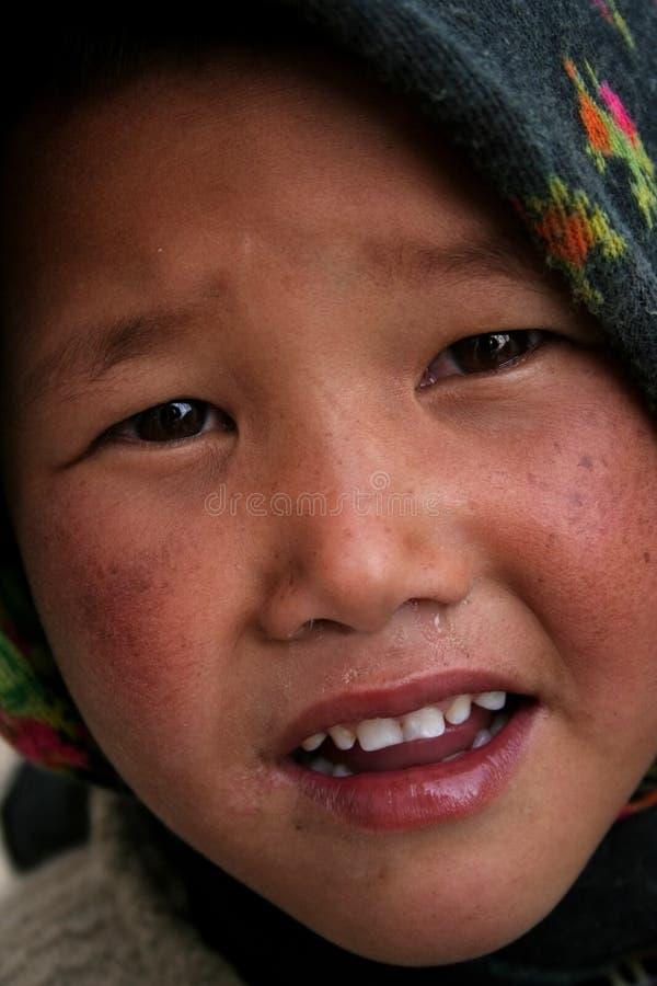 Fille tibétaine images libres de droits