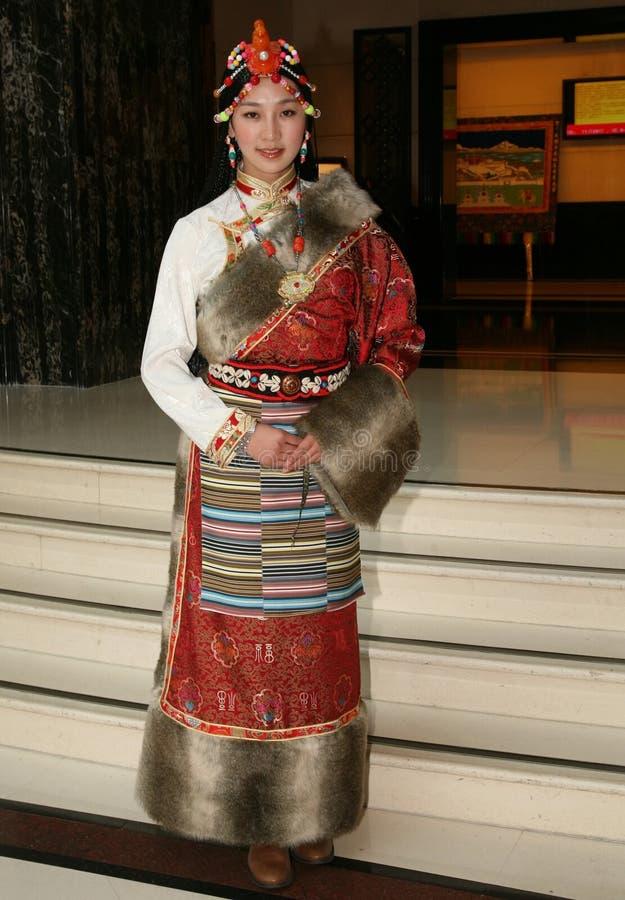 Fille tibétaine photographie stock