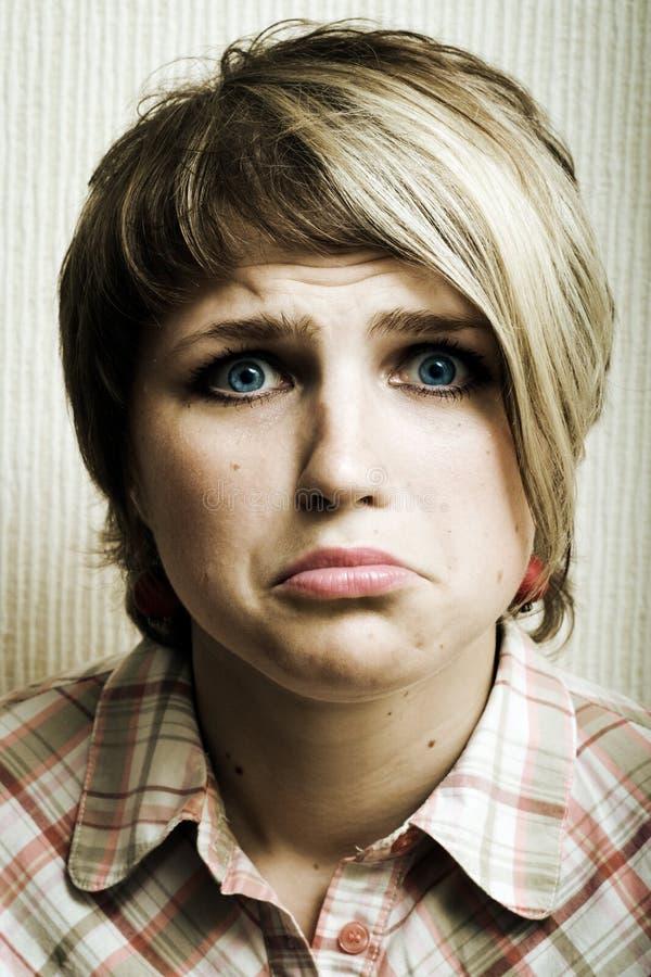 Fille triste. photo libre de droits