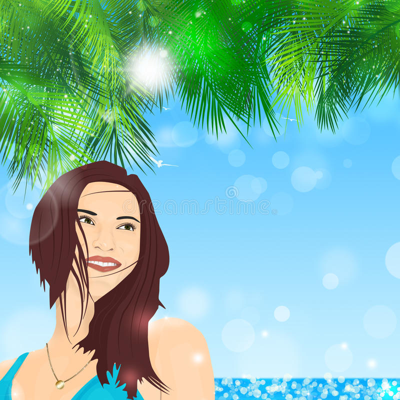 Fille tropicale photo stock