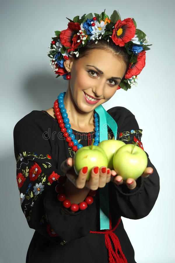 Fille ukrainienne image libre de droits