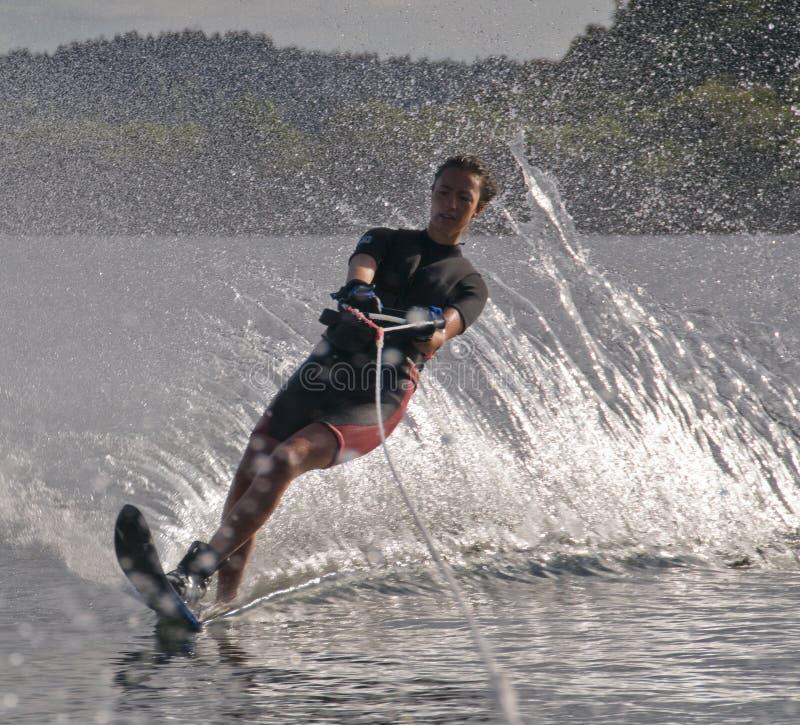 fille waterskier image libre de droits