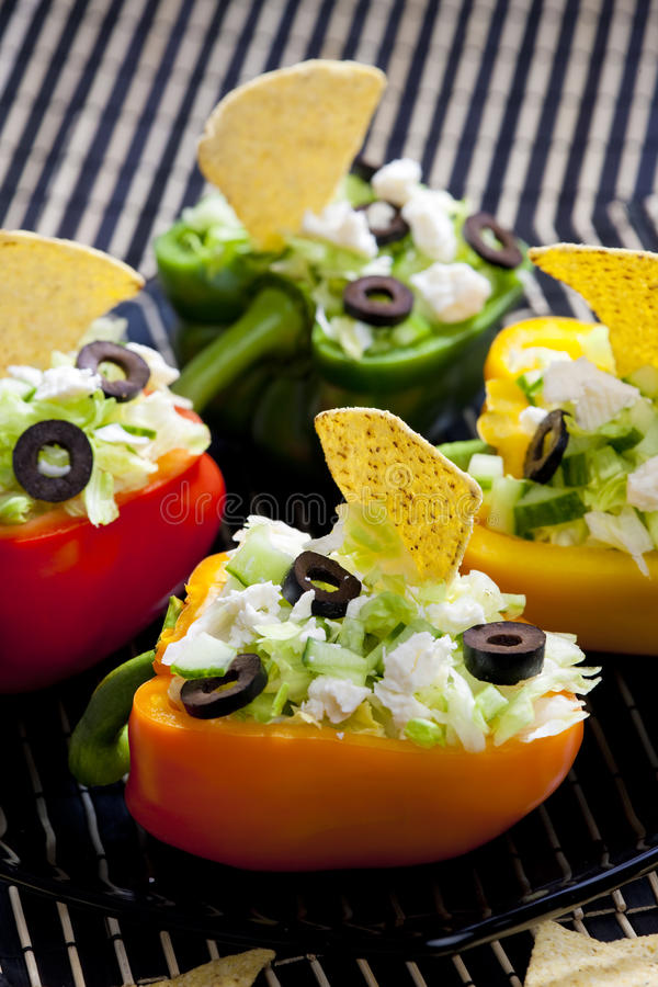 Download Filled peppers stock image. Image of lifes, nachos, dishes - 10435623