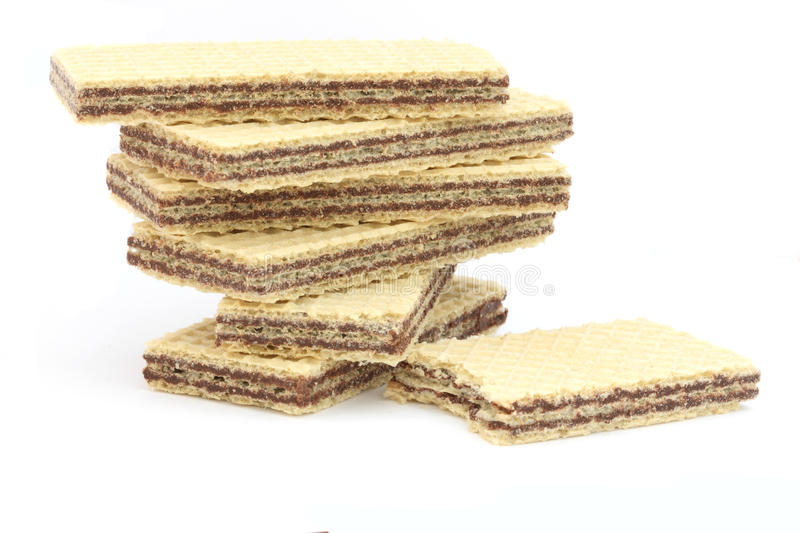 Filled Wafers With Chocolate Stock Image