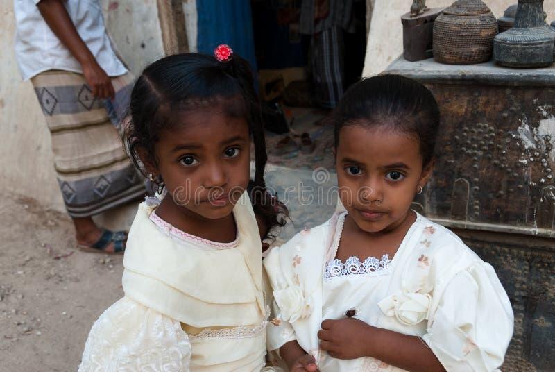 Filles au Yémen photo stock