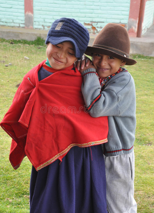 Filles d'école d'Ecuadorian photo libre de droits