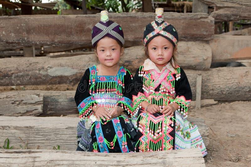 Filles d'Asie Hmong photographie stock