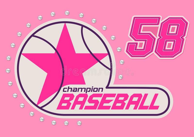 Filles de base-ball illustration stock