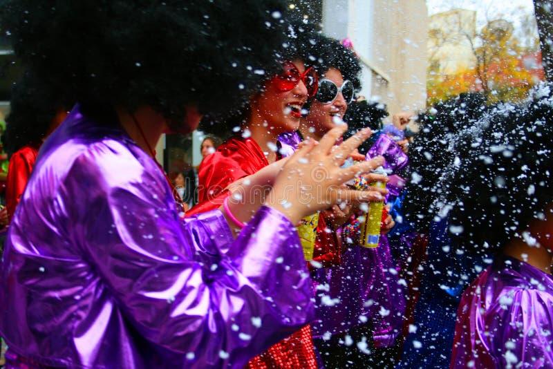 Filles de carnaval images libres de droits