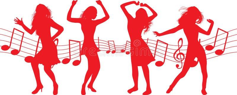 Filles de danse illustration stock