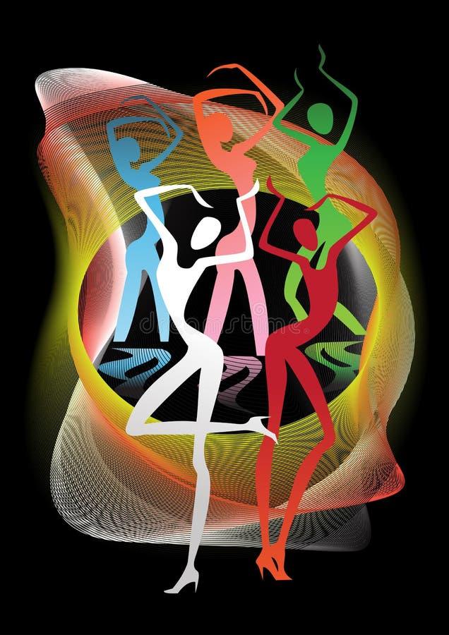 Filles de danse au carnaval illustration stock
