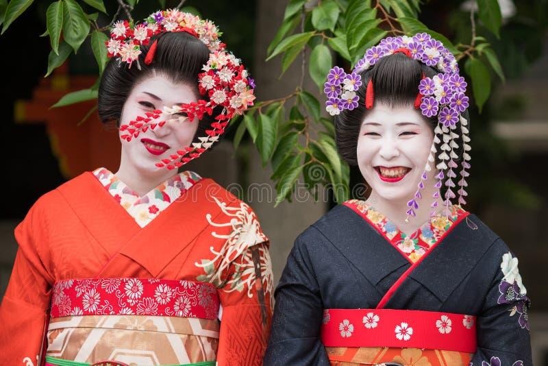 Filles de geisha au Japon images stock
