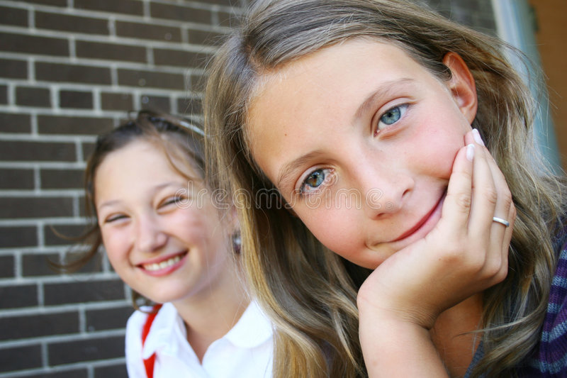 filles mignonnes photographie stock libre de droits