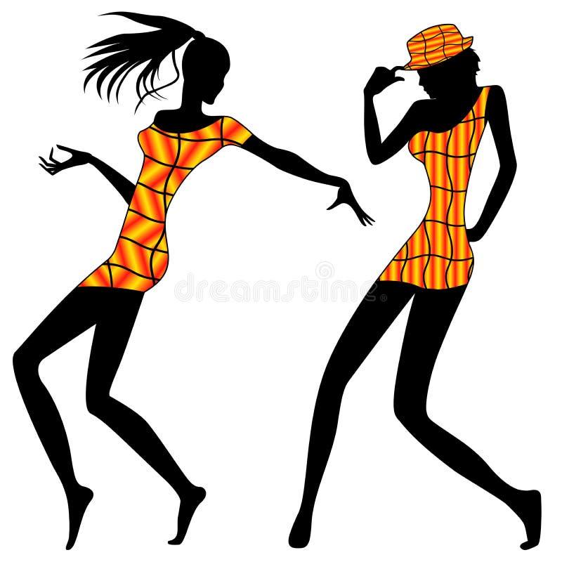 Filles modernes de danse illustration stock
