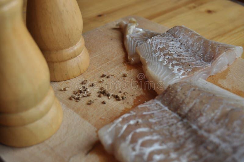 Fillet of fish. Dish, main dish. royalty free stock photos