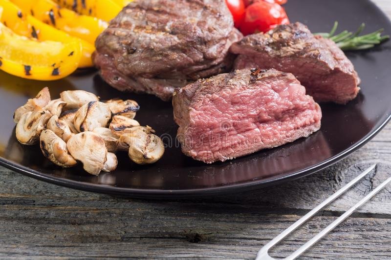 Fillet mignon steak royalty free stock photography