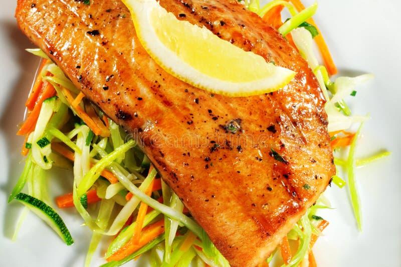 Download Fillet of Salmon stock photo. Image of green, garnish - 6975464