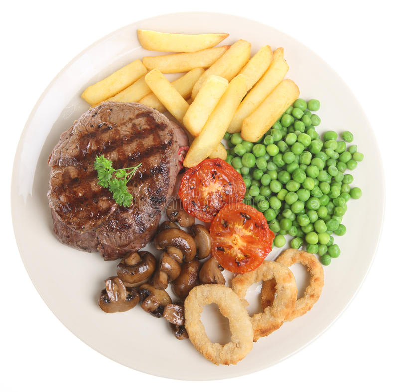 Meat Pie, Chips & Gravy stock image. Image of isolated ...