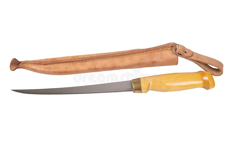 Filleting Knife With Protective Case stock image