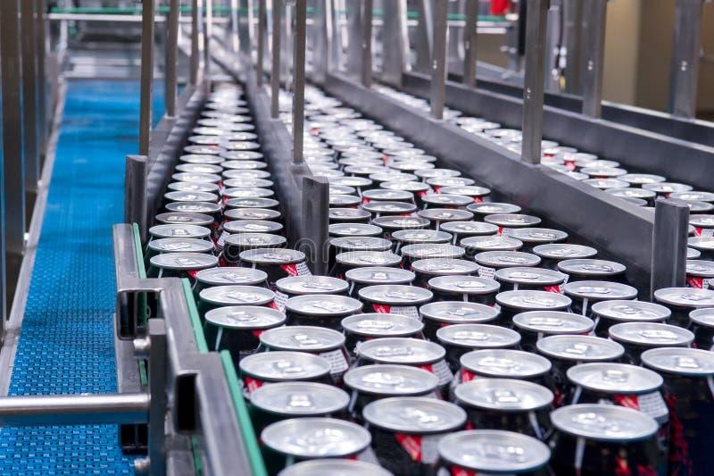 Download Filling Of Beverage Cans Stock Image - Image: 20143041