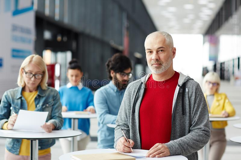 Filling in document royalty free stock image