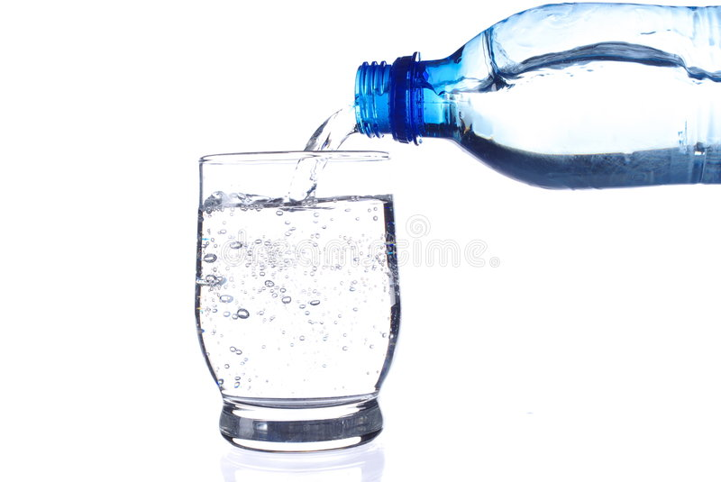 Download Filling Fresh Water On White Royalty Free Stock Photo - Image: 8237475