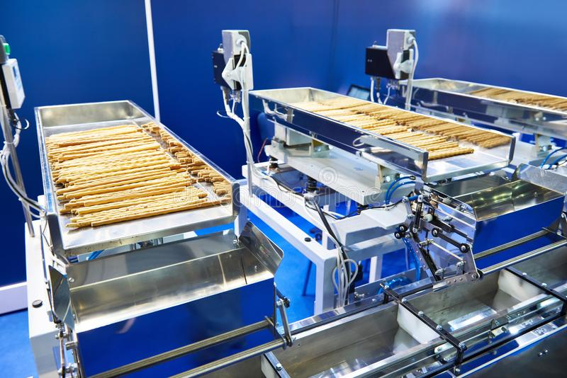 Filling machine for dry food royalty free stock image