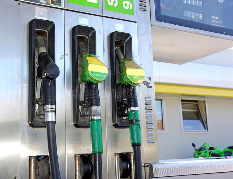Filling station detail royalty free stock photography