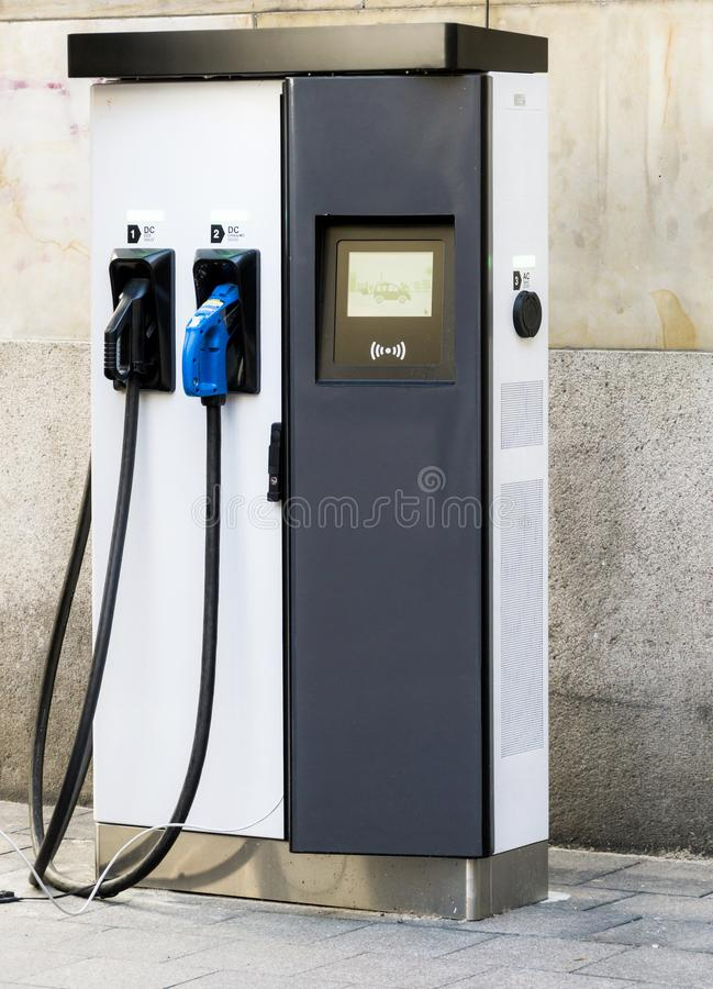 Filling station for electric power for electric cars in Germany royalty free stock photography