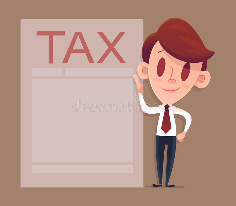 Filling tax form, Modern concept for web banners stock illustration