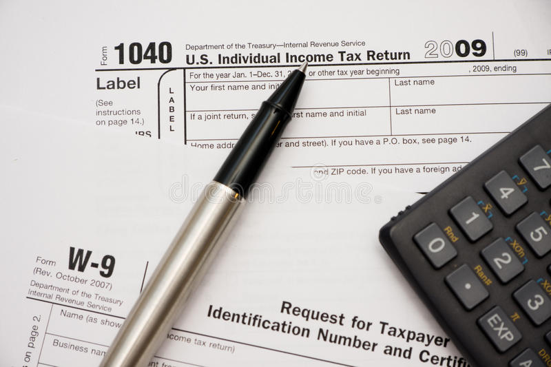 Filling Tax Forms 1040 Stock Image Image Of Finance 13188185