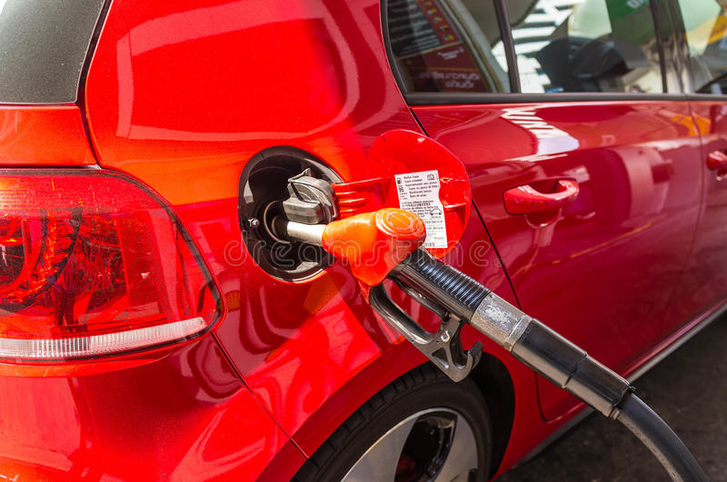 Filling Up the Car royalty free stock photography