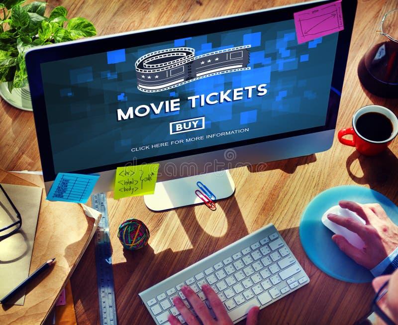 Filmów bilety Kupuje rozrywki pojęcie zdjęcie royalty free