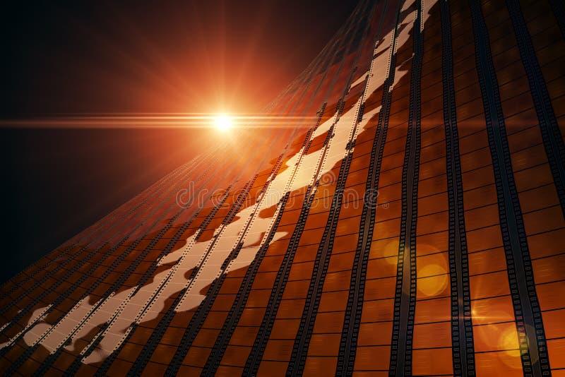 Filmów paski i abstrakcjonistyczny światło słoneczne ilustracja wektor
